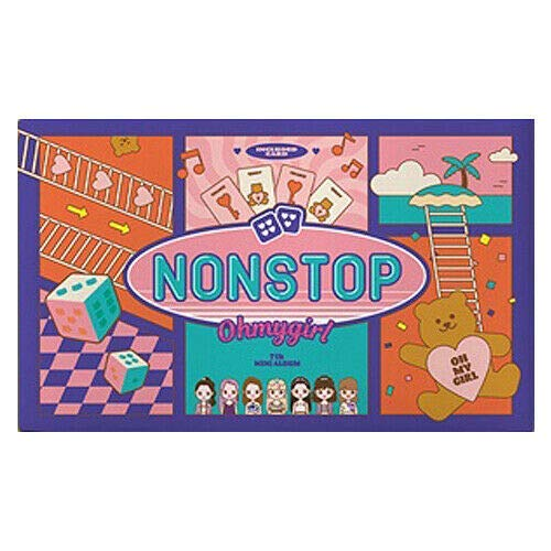 K-POP Oh My Girl - Nonstop, 7th Mini Album, Quest Cover incl. CD, 72pg Board Book, Game Board, Photo Card, Game Marker, Folded Poster, Extra Photocards