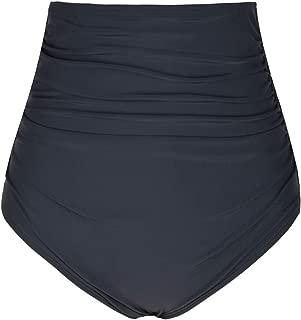 Firpearl Women's Swim Shorts High Waist Ruched Bikini Bottom Swim Brief