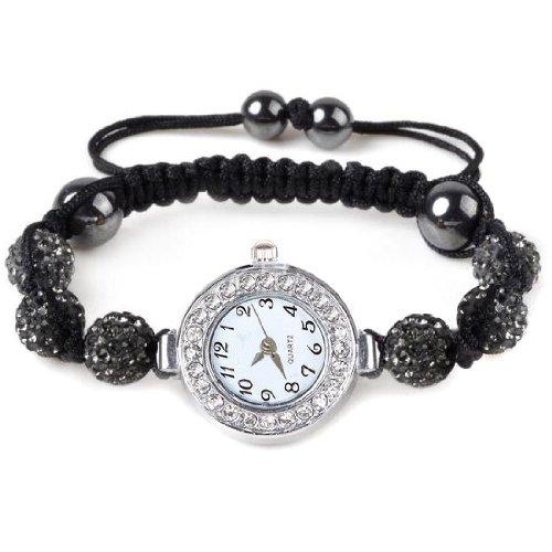 chinkyboo chinkybooCaltrad Shamballa Ball Bling Kristall Armband für Mädchen/Herren / Chirdren, 27 cm x 1 cm