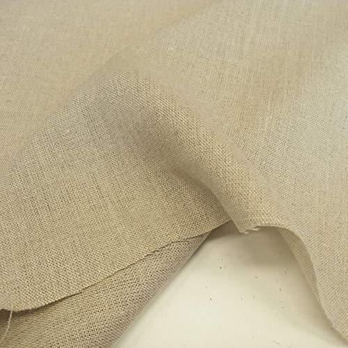TOLKO 50cm Roh-Leinen Naturstoff als Meterware | 100% Bio | Weder gefärbt noch gewaschen | 170cm breit | Leinenstoff für Kleid Hose Rock Bluse Gewand Vorhänge Gardinen und Dekorationen (Natur Beige)
