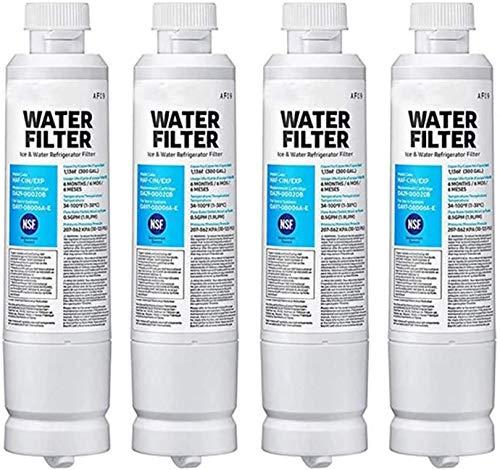 Filtro De Agua del Refrigerador DA29-00020B, Compatible con Los Refrigeradores DA29-00020A, HAF-CIN/EXP / TIER1, 4 Paquetes