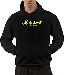 Nickmy Marshall-Amplification Men's Casual Sweater Autumn Winter Warm Sweater Hoodie Hooded Sweatshirt Black
