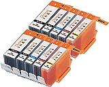 Sherman Replacement Ink Cartridge 10 Pack PGI5 CLI8 for Printer: Canon PIXMA iP4200 PIXMA iP4300 PIXMA iP4500 PIXMA iP5200 PIXMA iP5200R MP500 MP530 MP600 MP610 MP800 MP800R MP810 MP830
