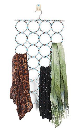 28 Loop Scarf Hanger Holder Closet Door Organizer Tie Belt Rack Random Colors