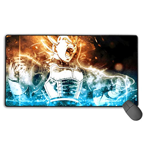 Dragon Anime Ball Super-Vegeta Non-Slip Mouse Pad Rectangle Rubber Anime Mouse Pad Gaming Mouse Pad 30x15.7 Inch(75x40 cm)