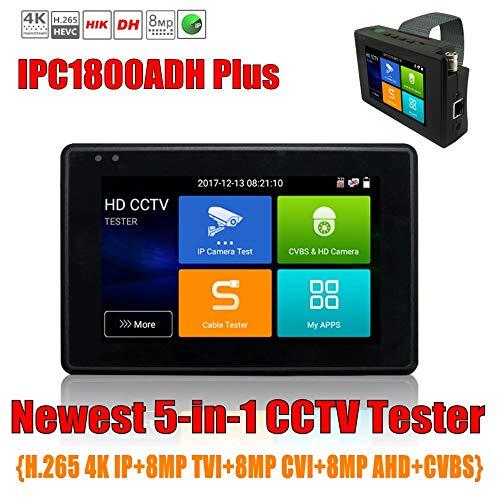 Professioneller Überwachungskamera-Tester IPC1800 Plus, 4-Zoll-Handgelenk-Koaxial-HD 4.0-CCTV-Tester, 8MP TVI 4MP CVI 5MP AHD CVBS H.265 4K-IP-Kamera-Tester-Monitor mit WiFi ONVIF POE 12V-Ausgang