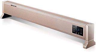 Calentador Eléctrico Para El Hogar Del Zócalo, Con Diseño De Silenciador De Pantalla Táctil, Protección De Falla De Energía Automática Segura, Calefacción Por Convección, Bloqueo Para Niños, 2200w