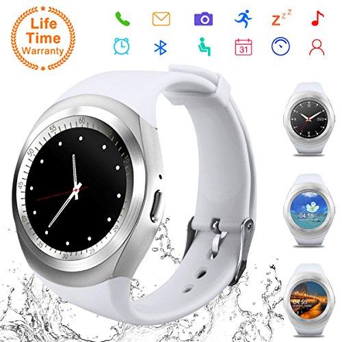 Android Smart Watch,Bluetooth Smart Watch Telefono con SIM Card Slot e Fotocamera,Orologio Intelligente Fitness Sport Android Wear Pedometer per Donna Uomo Bambini per iPhone Android iOS