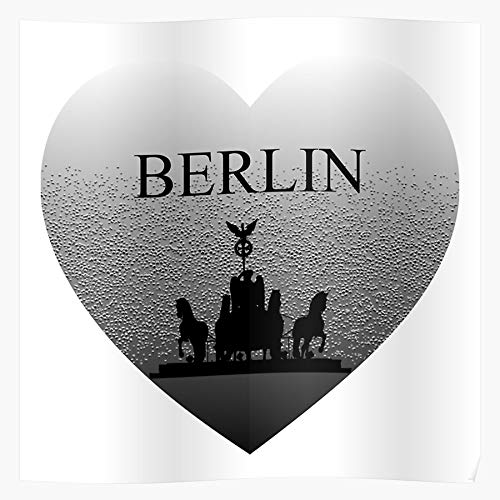 Capital City Souvenier Travel Berlin Memory Geschenk für Wohnkultur Wandkunst drucken Poster 11.7 x 16.5 inch
