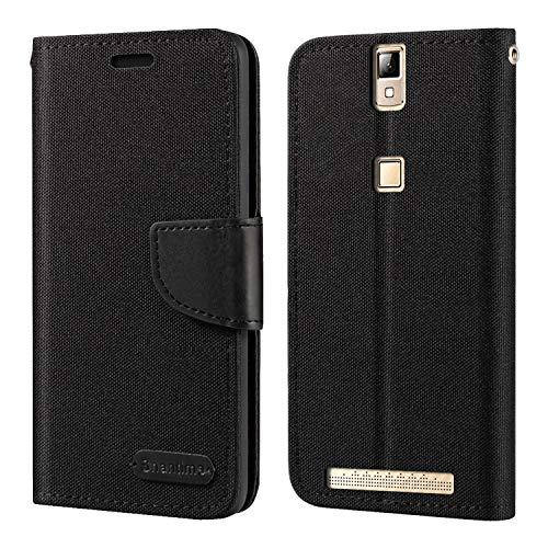 Elephone P8000 Hülle, Oxford Leder Wallet Hülle mit Soft TPU Back Cover Magnet Flip Hülle für Elephone P8000