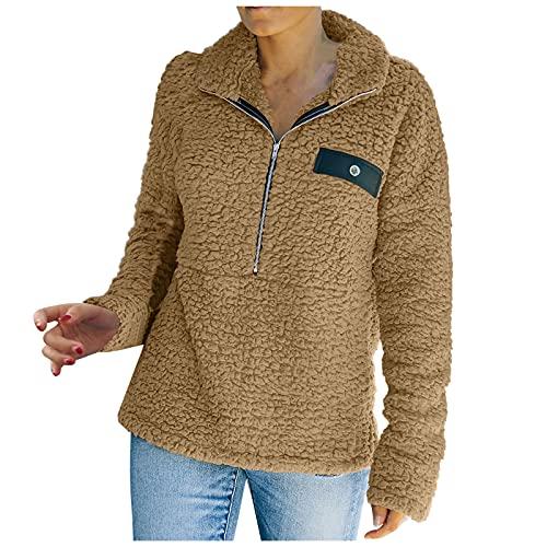 Chaqueta cálida de Invierno para Mujer, Prendas de Vestir, Sudaderas con Capucha, Manga Larga, Suelta, Informal, suéter, túnica, Camisetas cómodas
