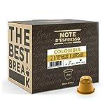 Note D'Espresso Capsule Compatibili con Sistema Nespresso, Caffè Colombia, 100 caps