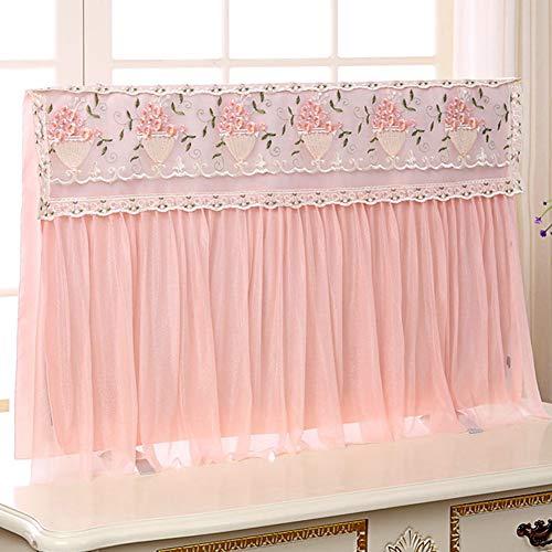 catch-L Interior Display Cubierta De Polvo Paño De Polvo Escritorio Colgando Decoración De TV LCD (Color : Pink, Size : 46inch)