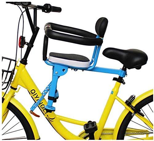 Kleinkind-Fördermaschine Klapprad Kindersitz vorne Sicherheitssitze Quick Release Voll Zaun, 33X45CM (Color : -, Size : -)