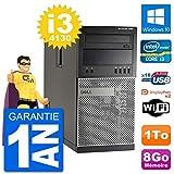 Dell PC Tour 7020 Intel Core i3-4130 RAM 8Go Disque Dur 1To Windows 10 WiFi...