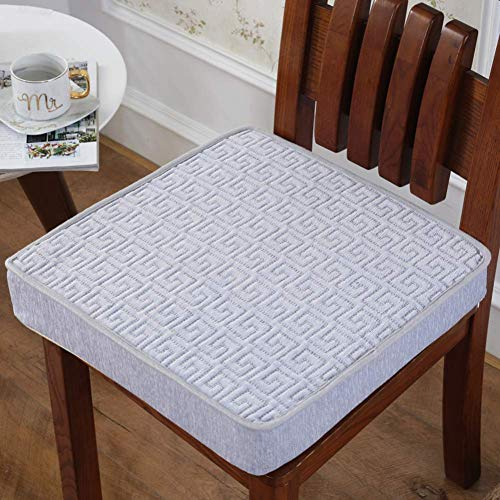 ZZTX Comfortable Seat Cushion,soft Detachable Thicken Chair Cushion For Wooden Kitchen Dining Chairs Office Car Seat Tailbone Back Pain Relief-h 50x50x5cm