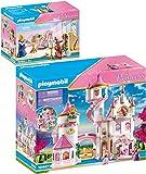 PLAYMOBIL Princess 70447 70452 - Juego de 2 castillo de princesa grande y habitación de música