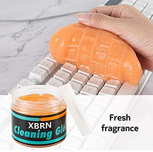 XBRN Cleaning Gel for Car Detailing Putty Cleaning Putty Detailing Gel Detail Tools Car Interior Cleaner Universal Dust Removal Gel Vent Cleaner Keyboard Cleaner for Laptop,Car Vents (Yellow)