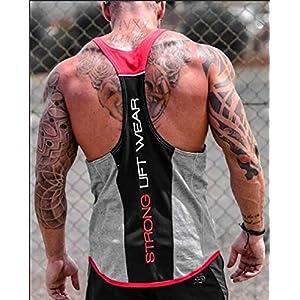 タンクトップ メンズ トレーニング,筋トレ ボディビル ジム 袖なし ウェア スポーツ タンクトップ フィットネス 速乾 トレーニング (グレー, XL)