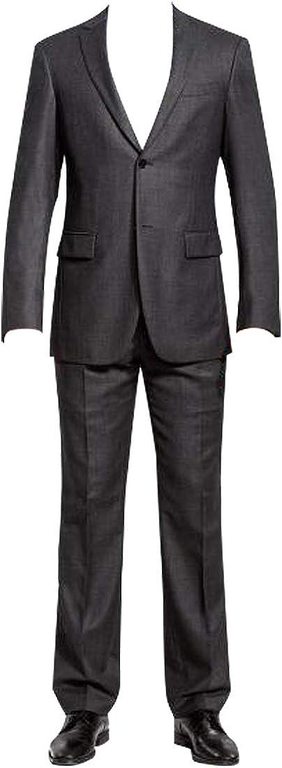 HBDesign Mens 3 Fashionable Piece 2 Button Slim Notch Lapel Modern Fit Trim Branded goods