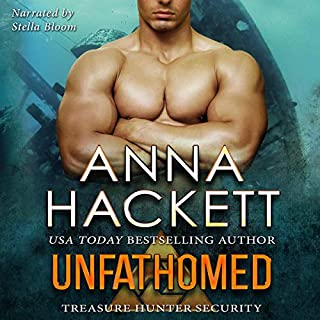 Unfathomed     Treasure Hunter Security, Book 4              Written by:                                                                                                                                 Anna Hackett                               Narrated by:                                                                                                                                 Stella Bloom                      Length: 5 hrs and 44 mins     1 rating     Overall 5.0