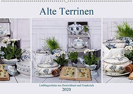 Alte Terrinen Lieblingsstücke aus Deutschland und Frankreich (Wandkalender 2020 DIN A2 quer): Liebevoll arrangierte Fotografien alter und antiker Terrinen in Blau-Weiß. (Monatskalender, 14 Seiten )