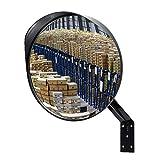TOSHIN Miroir Convexe de Sécurité Surveillance, Réglable 30 cm Miroir de Circulation pour l'intérieur et l'extérieur - Routes, Entrepôts, Garages, Magasins et Bureaux