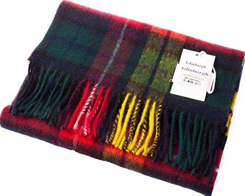 I Luv Ltd Unisex Lambswool Scarf In Buchanan Tartan Design 30cm Wide