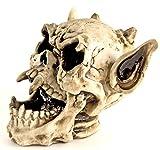 NICK and BEN Toten-Kopf Satan Horror Spar-Büchse Spar-Dose 25x20x17cm Skull Gothic Dark Hörner Devil Spar-Schwein