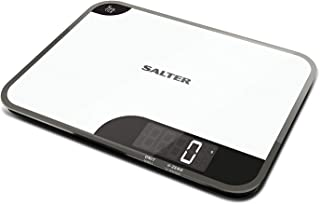 Best Salter Mini-Max Kitchen Scales, Small + Practical, Measure Food / Ingredients Weight, Weigh up to 5kg, Metric + Imperial, g oz ml fl.oz. Stylish Design, Easy Wipe Clean, 15 Year Guarantee - White Review