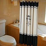 Tenda da doccia in tessuto di poliestere resistente alla muffa, con 12 ganci, Poliestere Tessuto, Blu, 180X180CM