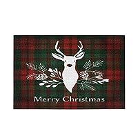 メリークリスマス鹿タータンチェック柄バッファローチェック1000ピースジグソーパズル家の装飾の大人のため