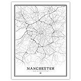 Lonfenner Leinwand Bild,Manchester Uk Abstrakt Malen Wand,