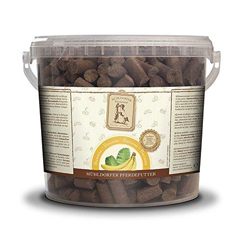 Mühldorfer - Golosinas para Caballos (3 kg, con plátano, para mortero, lubricar y Pegar)