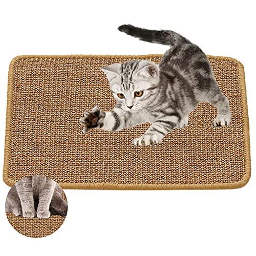 Xnuoyo Alfombra para Rascador para Gatos, Sisal Natural de Alfombrilla Scratcher Cat Esmerilar para Gatos y Alfombra de Alfombra Protectora Almohadillas Antideslizantes Gatos (40 * 60cm)