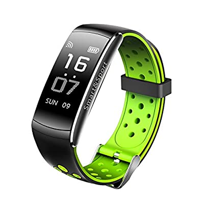 colorful panda Fitness Tracker Z11 Smart Bracelet 0.96inch, Real-time Dynamic Heart Rate, Drink Reminders, IP68 Waterproof, Blood Pressure&Blood Oxygen Monitoring for iOS and Android Cellphone