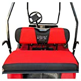 10L0L Golf Cart Universal Back Seat Covers for EZGO Club Car Yamaha Washable Breathable Air Mesh Cloth (37.5' 13.5' 3.7') X-Small Gray Black Beige Red