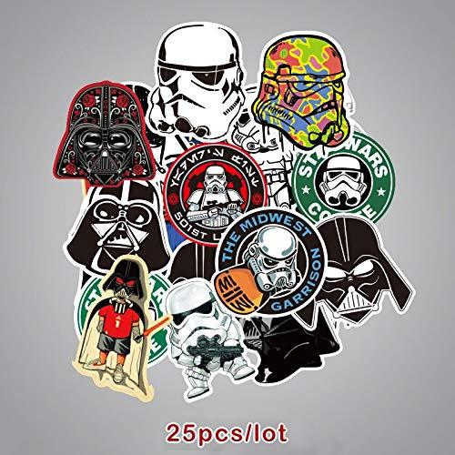 Star Wars Sticker Kinderen Speelgoed Voor Kinderen Laptop Stickers Darth Vader Waterdichte Sticker Merk Scrapbooking 25 stks/pak