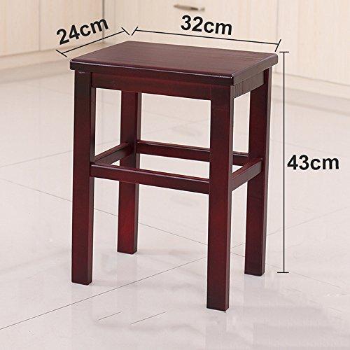 Stool Tabouret en Bois Massif 24 * 32 * 43 cm 27 * 37 * 45 cm 27 * 37 * 60 cm Foyer Salon Confortable (Couleur : B, Taille : 43cm)