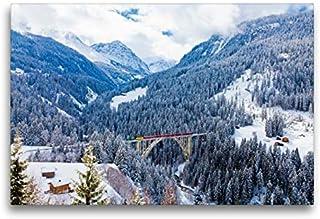 Premium - Lienzo de lienzo (75 x 50 cm, horizontal, diseño de trébol en el largo viadukt), imagen sobre bastidor, imagen sobre lienzo auténtico, impresión sobre lienzo (CALVENDO Orte);Calvendo Orte