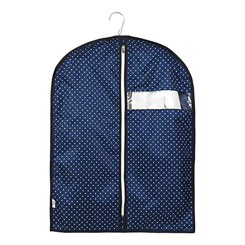 YLiansong-home Dustproof Clothes Covers Set Of 2 Polyester Fabric Garment Bags Suit Bag for Clothing Storage Moth Proof Coat Bag (Color : Dark blue, Size : S)