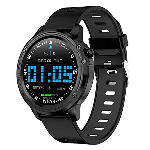 APCHY Smartwatch Reloj Inteligente,Rastreadores De Actividad Física con Pantalla Táctil De 1,22'con Frecuencia Cardíaca Monitor De Presión Arterial Rastreadores De Actividad Podómetro,Negro