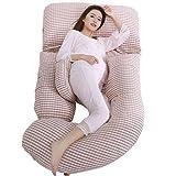 Cuscino in Gravidanza Extra Large (185 cm x 80 cm), Cuscino Premaman, Cuscino per Tutto Il Corpo e...