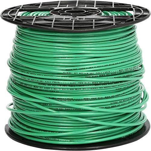 12 Gauge THHN Stranded Copper Wire (500, Green)