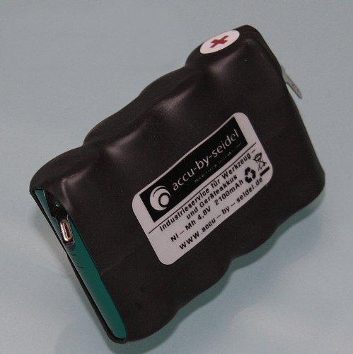 Ersatz - Akku (W604) BS60 für Wolf ACCU 60 Rasenkantenschere, ACCU60, Strauchschere - 2150mah - 4,8 Volt - NiMH - Kurzschlußgeschützt