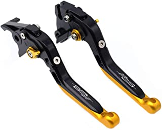 Black Gold Motorcycle Brake Clutch Engraved Lever Extendable Adjustable Hand Levers for KTM Duke 790 2018 2019