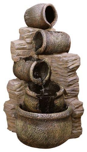 Primrose Gartenbrunnen Kaskadenbrunnen mit Ölkrügen