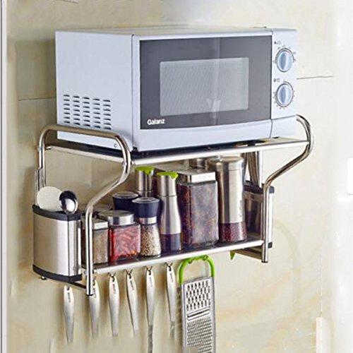 KitchenPRO Muebles de Cocina 304 Acero Inoxidable Microondas Racks de Pared Racks...