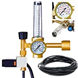 MANATEE Co2 Regulator Hydroponics Emitter System with Solenoid Valve Accurate and Easy to Adjust Flow Meter Brass - Shorten up and Double Your Time for Harvesting