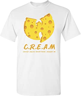 Cream C.R.E.A.M. Wu-Tang Cheese Rules Everything Around Me Graphic T Shirt WuTang